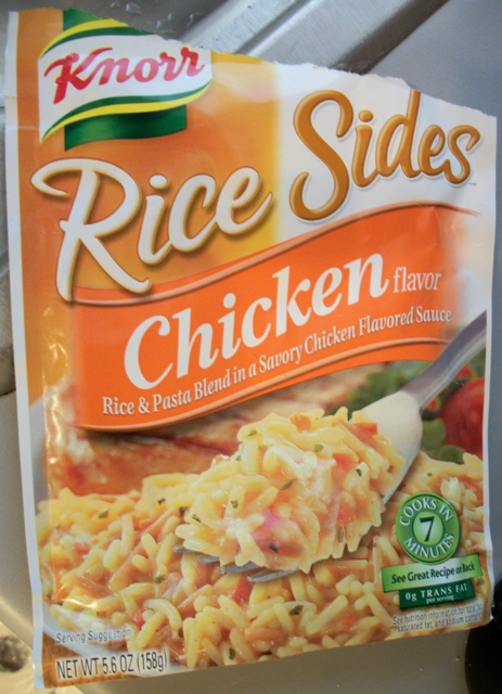 A packet of Knorr Rice Sides Chicken Flavor