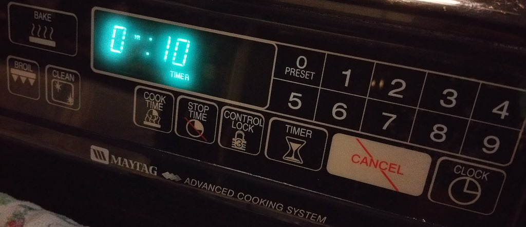 Cooking With Kerwin - Oven Timer