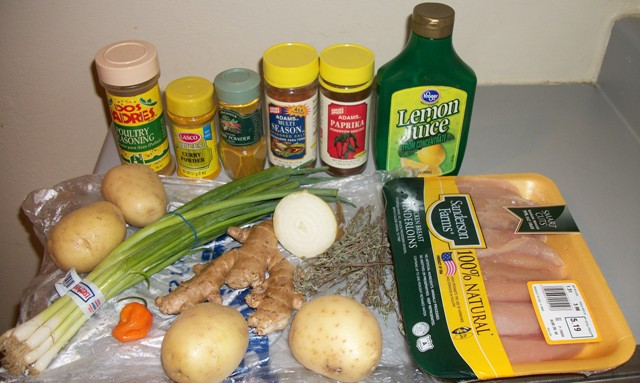 Jamaican Curry Chicken Ingredients