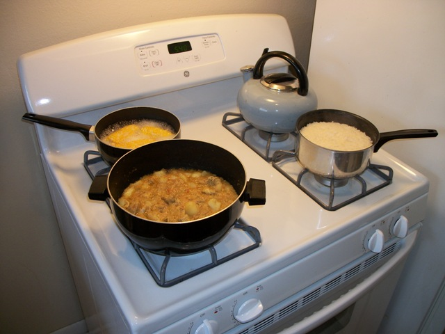 Jamaican Curry Chicken On The Stove
